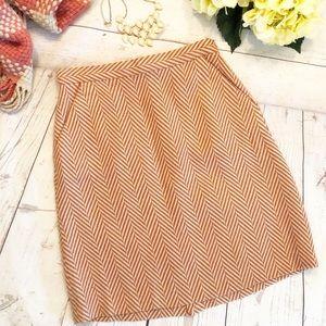 Tucker for Target Wool A-Line Skirt Herringbone